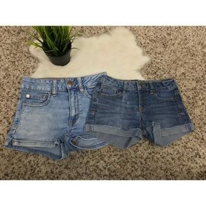 Lucky Brand/AE Bundle of 2 Girl Shorts jeans 8/00